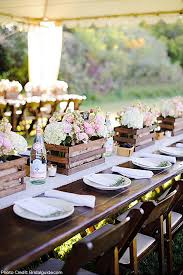 Do You Dream Of Having A Rustic Wedding If Youre Donning Your Favorite Cowboy Boots Under Dress These Wooden Box Centerpieces Are For