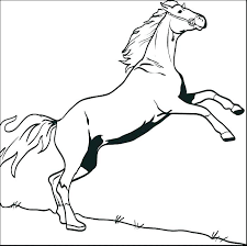 Printable Horse Coloring Pages Face Free Jumping