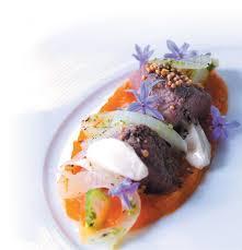 cuisine emulsion jodi pearton s seared ostrich with butternut purée avocado