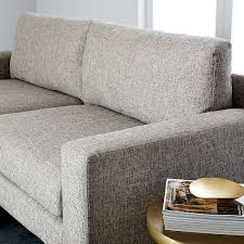 West Elm Crosby Sofa Sectional by Eddy Reversible Sectional Feather Gray Deco Weave West Elm