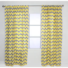 Moroccan Tile Curtain Panels by Yellow Moroccan Tile Printed Room Darkening Grommet Curtains Best