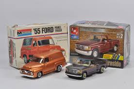 Monogram 55 Ford Panel Truck And AMT Pickup. Both Expertly Finished ...