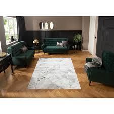 leonique teppich lerina rechteckig 12 mm höhe moderne marmor optik wohnzimmer