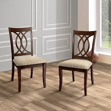 Mesmerizing Cherry Wood Dining Chairs At Furniture Of America Cerille Elegant Brown Set