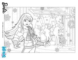 BARBIE Preparing Christmas Barbie Printable Color Online Print