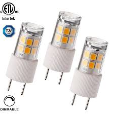 3 pack 2 3w t4 g8 led light bulb 30w bi pin xenon jcd type