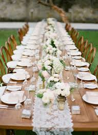 Rustic Long Table Outdoor Wedding