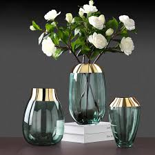 mode gold folie blume vase figuren wohnzimmer decor zubehör glas blume vase ornamente dekoration einrichtung