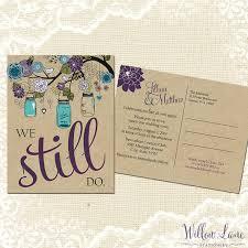 Vow Renewal Postcard We Still Do Green Purple Blue Mason