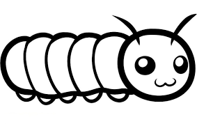 Large Print Coloring Pages 9 Astounding Inspiration Really Big Caterpillar To Out Point