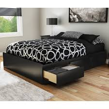 zinus upholstered square stitched platform bed with headboard and