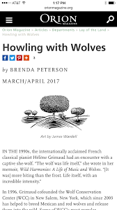 LISTEN To The Author Read Wolf Music Excerpt From ORION Magazine