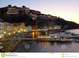 100 Houses In Sorrento By Night Italy Editorial Image Image Of Building