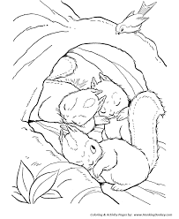 Chipmunk Family Coloring Page