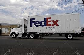 100 Fedex Freight Truck LEWISTONIDAHO STATE USA _4 Sept 2013 Stock