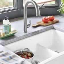 kitchen rohl shaws original fireclay single bowl apron sink white
