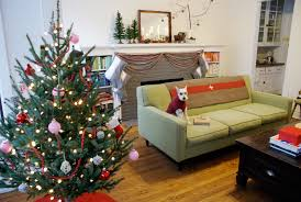 Mid Century Modern Christmas Corona SofaGreen Sofa Mini Schnauzer