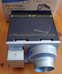Install Bathroom Vent No Attic Access by How To Replace A Bathroom Exhaust Fan And Ductwork Drywall Ceiling