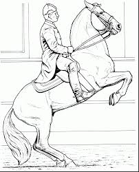 Remarkable Rearing Horse Coloring Pages With Horses And Of Barrel Racing