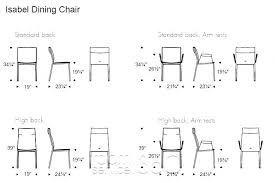 Dining Room Chair Seat Height Standard Seating Typical Office Collection