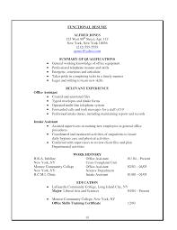 functional administrative clerk resume sle emphasizing summary