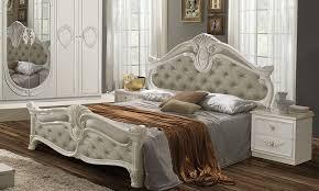 bett letizia 160x200 cm in beige weiß barock design ohne lattenrost
