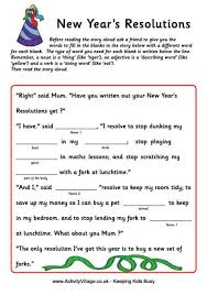 Halloween Mad Libs For 3rd Grade by New Year U0027s Mad Libs Google Search New Year U0027s 2015 2016