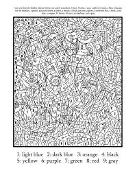 Coloring Pages Numbers Image Gallery Adult Color By Number