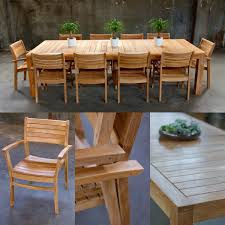 Entranching Teak Round Patio Table And Chairs Set Tableteak Tables With Marvelous Outdoor Dining