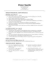 Skills Experience Resume Examples Profile For Resumes Sample Retail Sales Example Prof