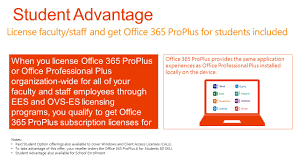 License faculty staff and fice 365 ProPlus for students