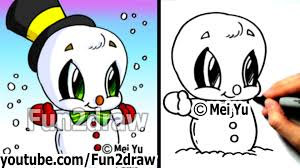 Frosty The Snowman Christmas Tree Theme by How To Draw Easy Things How To Draw A Snowman For A Christmas