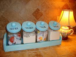 Savannah Turquoise Kitchen Canister Set by 100 Vintage Kitchen Canisters Country Kitchen Canister Set