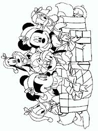 Mickey Mouse Christmas Coloring Pages 12