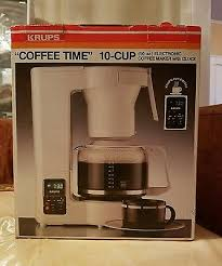 Automatic Drip Coffee Maker Loudthinker KRUPS VINTAGE 10 CUP ELECTRIC COFFEMAKER WITH DIGITAL CLOCK ORIGINAL BOX