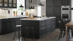lerhyttan black stained kitchen ikea