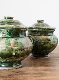 italienische kapselgefäße aus keramik 1940er 3er set