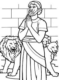 Daniel And The Lions Den Coloring Page Corresponsables Co