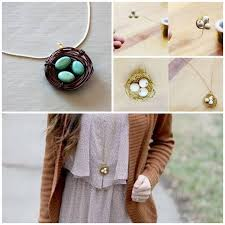 Amazing Step By Guide For DIY Bird Nest Necklace Perfect As Easter Gift