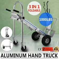 2018 Aluminum Hand Truck 3 In 1 Folding Hand Trucks 1000LBS ...