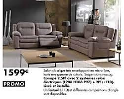 lambermont canapé meubles lambermont promotion canapé 2 5 pl avec 2 systémes relax