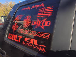 12 Vinyl Stacked Black Label Lighting Decal