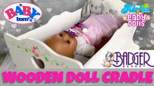 Badger Basket Doll Bed by Badger Basket Wooden Doll Cradle Unboxing U0026 Assembling With