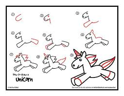 Drawn Unicorn Step By 5
