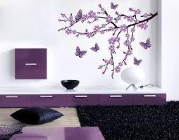 wandsticker lila blütenzweig