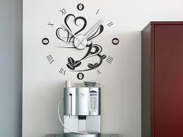 wandtattoo uhr kaffee wanduhr wandtattoos de