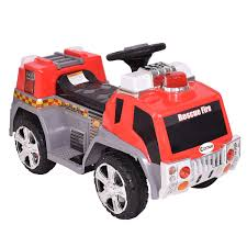 Costway 6V Kids Ride On Rescue Fire Truck Electric Battery Powered W ... Amazoncom Kid Trax Red Fire Engine Electric Rideon Toys Games Tonka Ride On Mighty Dump Truck For Kids Youtube Buy Kids Cars Childs Battery Powered Rideon Bestchoiceproducts Best Choice Products 12v Ride On Semi Truck Memtes Toy With Lights And Sirens Popular Chevy Silverado 12 Volt Car 2018 New Model 4x4 Jeep Battery Power Remote Control Big Orange 44 Defender Off Roader Style On W Transformers Style Childrens For Ford F150 Wheels