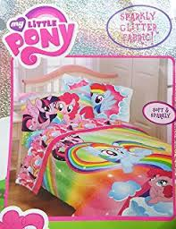amazon com my little pony 4pc twin comforter and sheet set