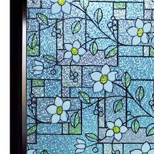 100 Flannel Flower Glass Amazoncom DUOFIRE Stained Window Film Color Pattern