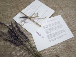 Rustic Lavender Stationery Suite Wedding Invitation